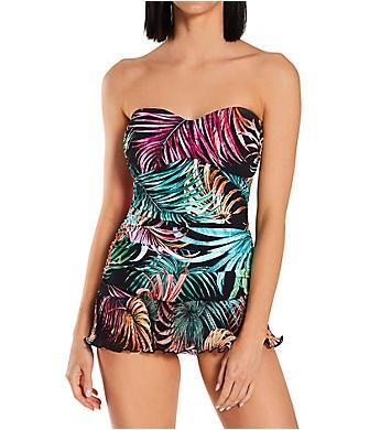 Profile by Gottex Tropico Bandeau One Piece Swim Dress
