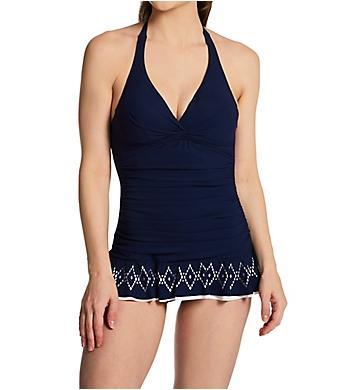 Profile by Gottex Tutti Frutti Halter Underwire One Piece Swim Dress