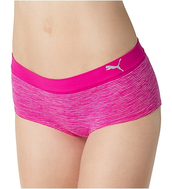 Puma Seamless Heather Stripe Boyshort Panty - 2 Pack