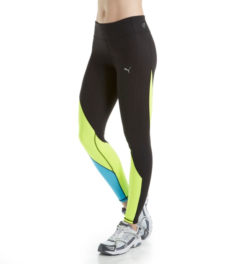 Puma Clash Color Block DryCELL Wide Waistband Tight
