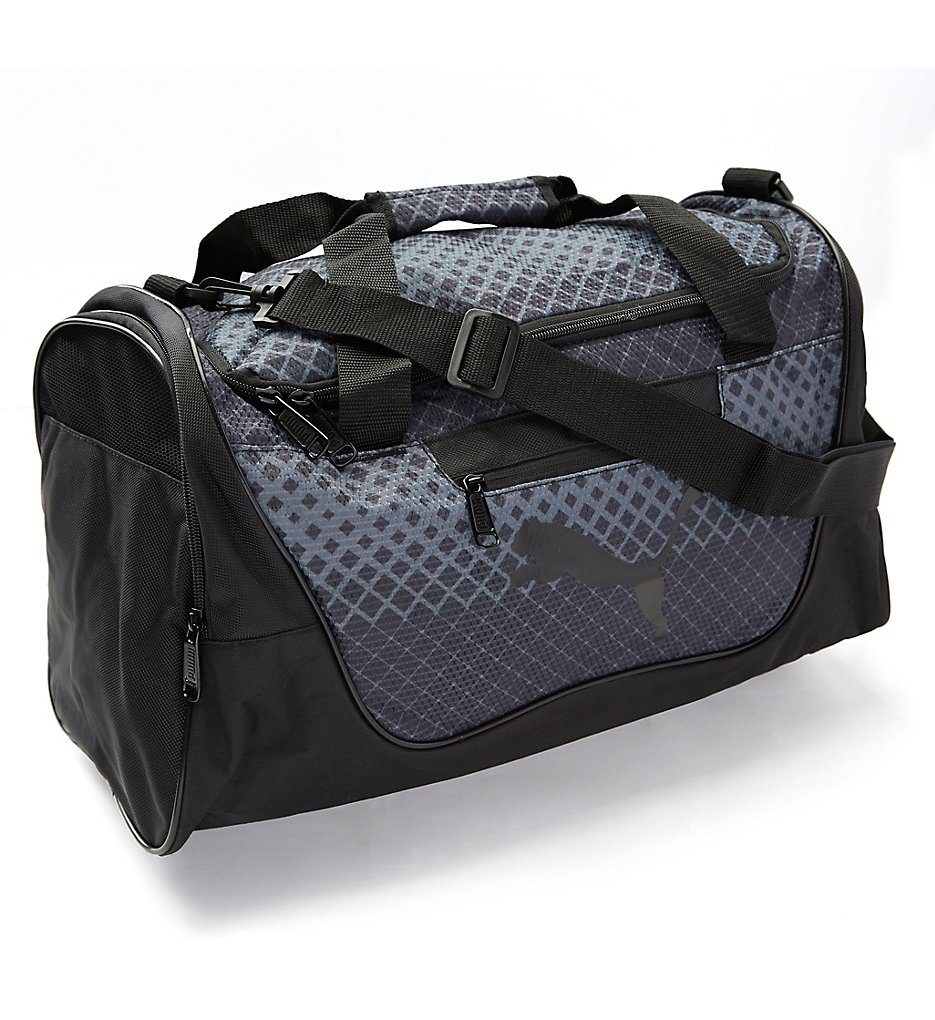 1712880074 Puma PV1457 Contender 21 Inch Duffel Gym Bag (Black Gray)