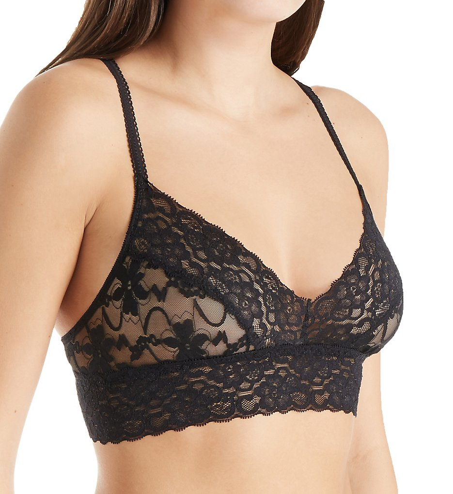 Pure Style Girlfriends - Pure Style Girlfriends 6189 Unlined Lace Bralette (Black XL)