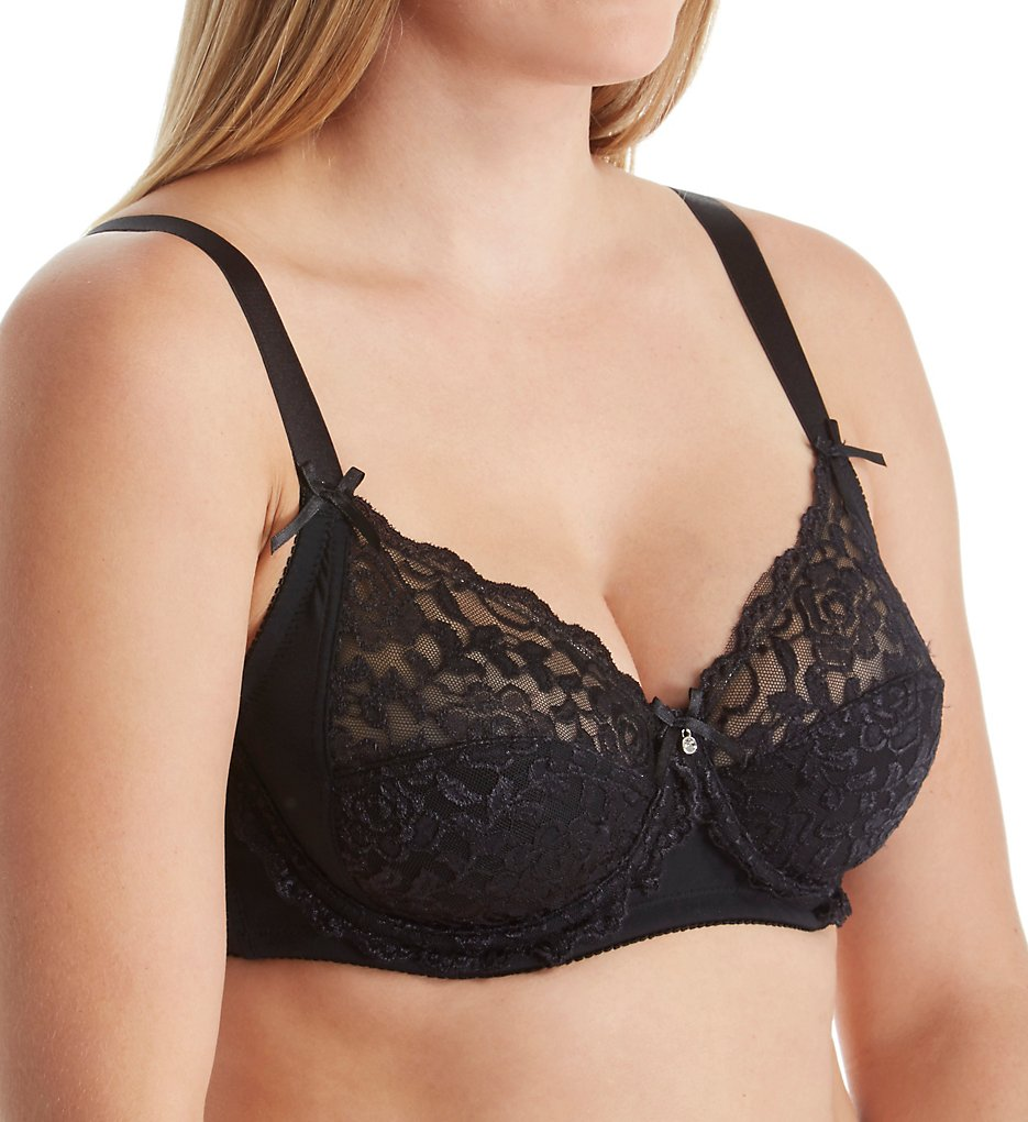 QT - QT 5556 Lace with Micro Side Support Bra (Black 34B)