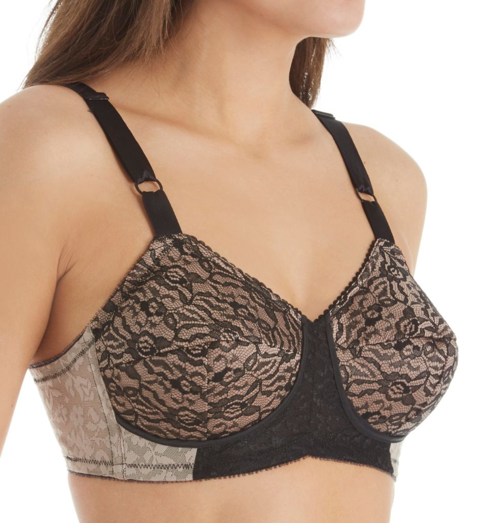 Rago Satin and Lace Support Bra