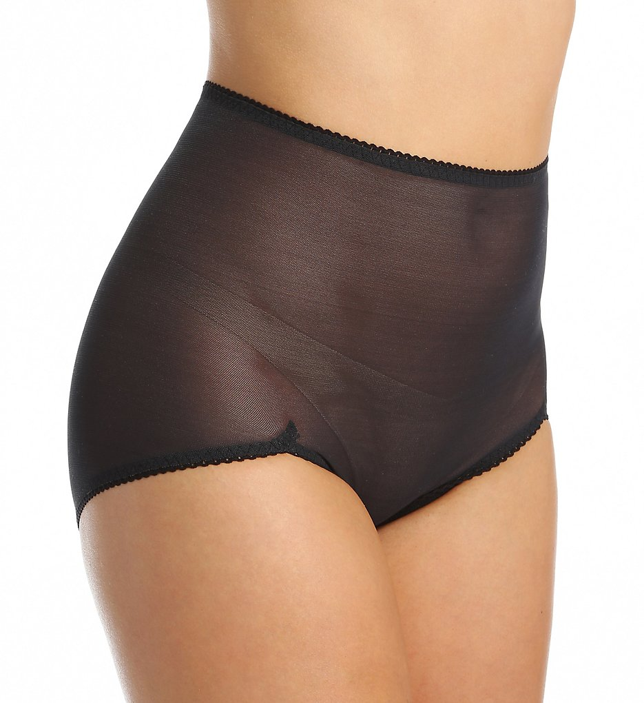 Rago - Rago 40 Power Lites Sheer Shaping V Leg Brief Panty (Black S)