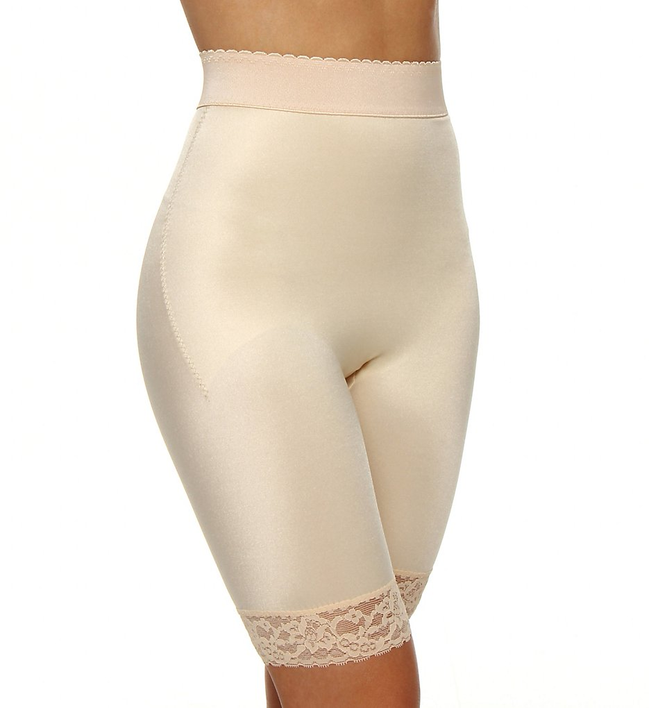Rago - Rago 518 Light Shaping High Waist Long Leg Bike Short (Beige 2X)
