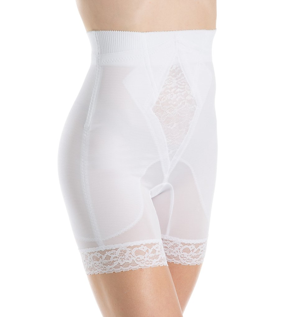 Rago - Rago 6206 Diet Minded No Roll High Waist Long Leg Shaper (White M)