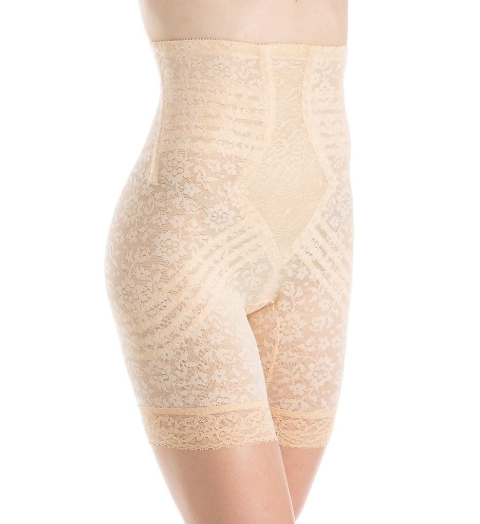 Rago - Rago 6207 Lacette Extra Firm No Roll High Waist Leg Shaper (Beige M)