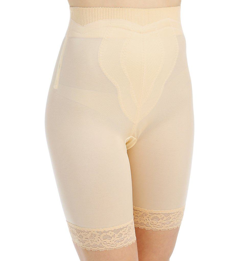 Rago - Rago 6226 Diet Minded High Waist Long Leg Shaper (Beige S)