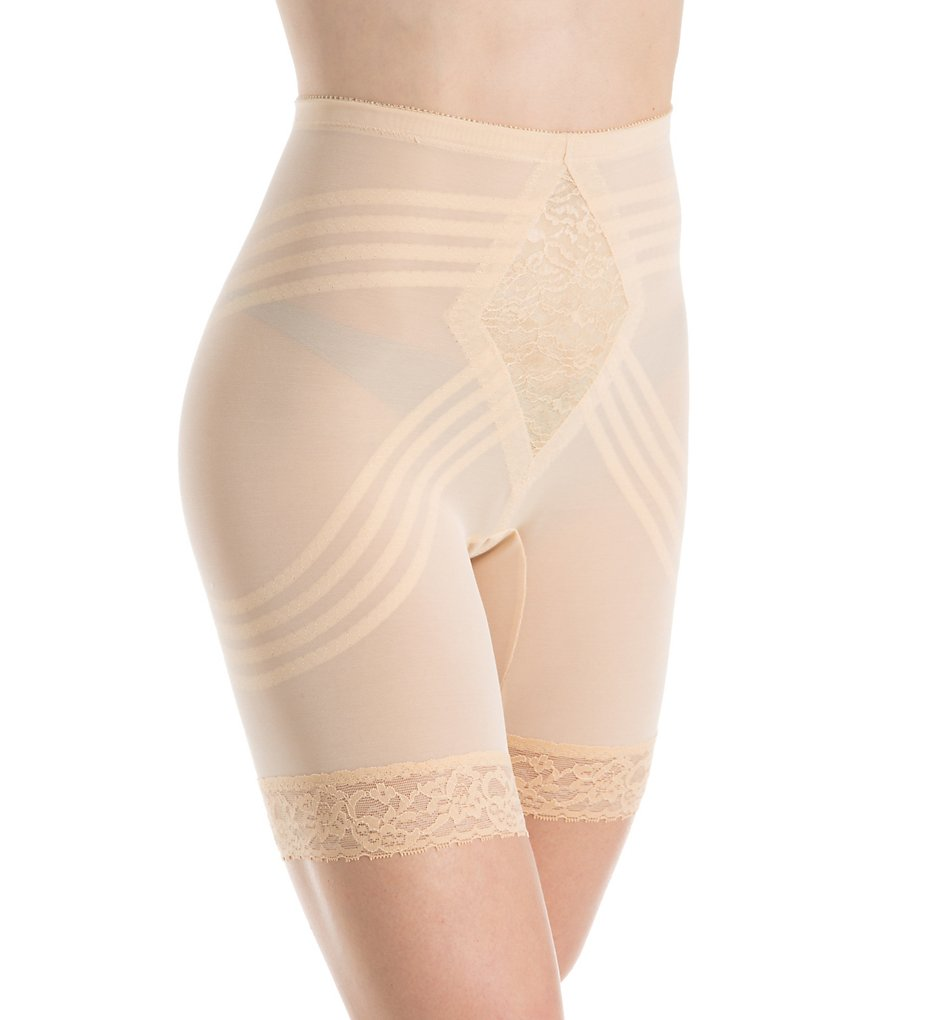 Rago - Rago 679 Shapette Long Leg Shaper with Contour Bands (Beige S)