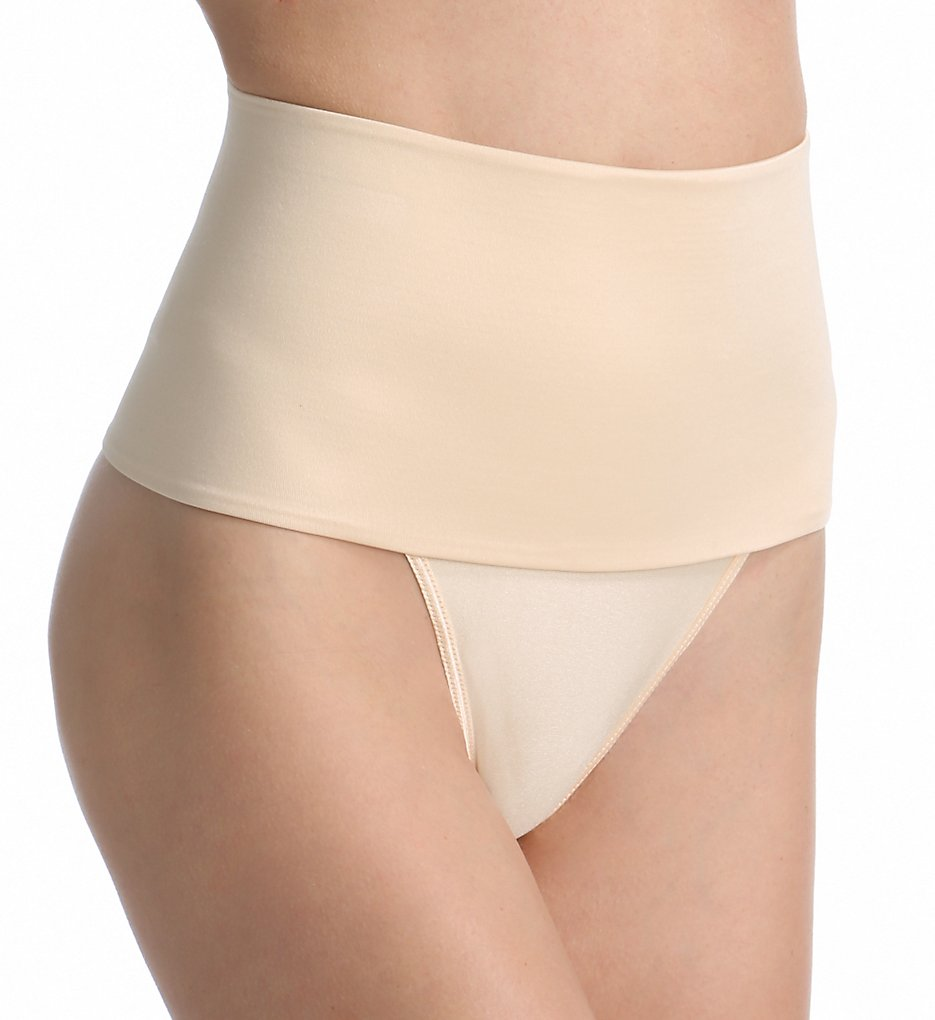 Rago - Rago 801 Soft Shaping Wide Band Thong (Beige M)