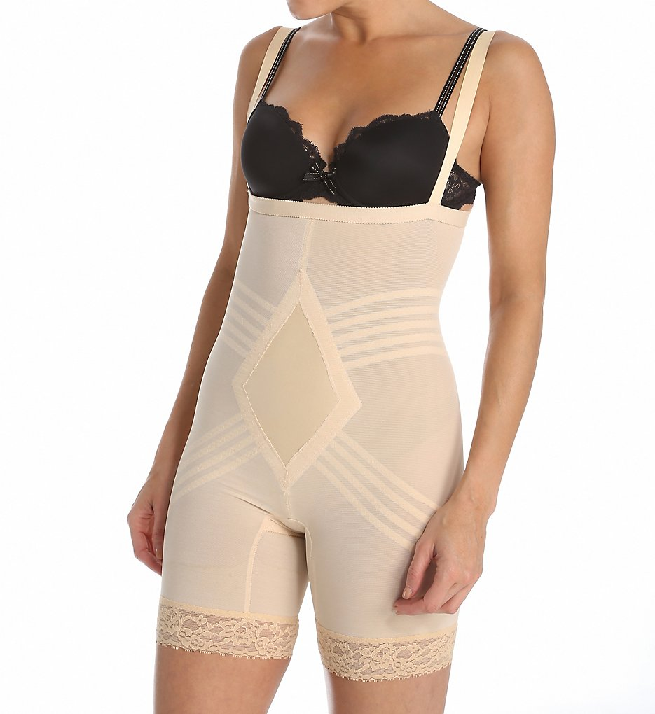 Rago - Rago 9070 Shapette Wear Your Own Bra Body Briefer (Beige S)