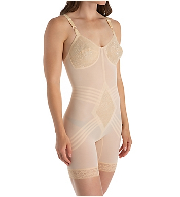 Rago Shapette Long Leg Body Briefer with Contour Bands