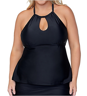 Raisins Curve Plus Size Alicante Solids Rosalie Tankini Swim Top