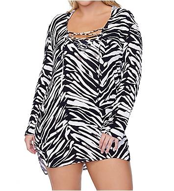 Raisins Curve Plus Size Alba Long Sleeve Shirt Swim Cover Up