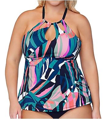Raisins Curve Crystal Cove Rosalie Poolside Tankini Swim Top