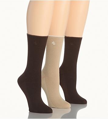Ralph Lauren Tipped Rib Cotton Trouser Sock - 3 Pair Pack