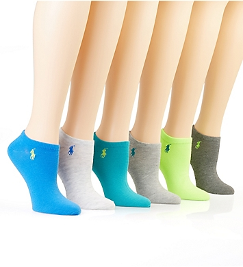 Ralph Lauren Ultra Low Flat Knit Anklet Sock - 6 Pack