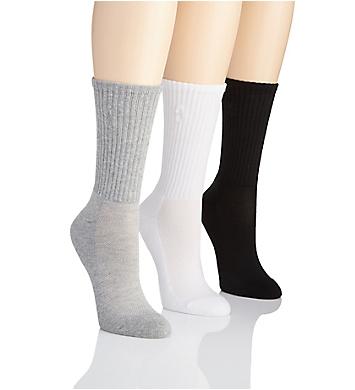 Ralph Lauren Cushioned Sole Mesh Top Crew Sock - 3 Pack