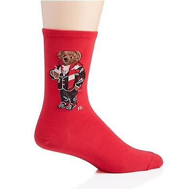 Ralph Lauren Holiday Hot Cocoa Bear Crew Sock