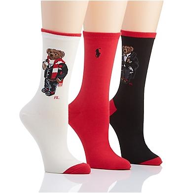 Ralph Lauren Hot Cocoa Bear Sock Gift Box - 3 Pair Pack