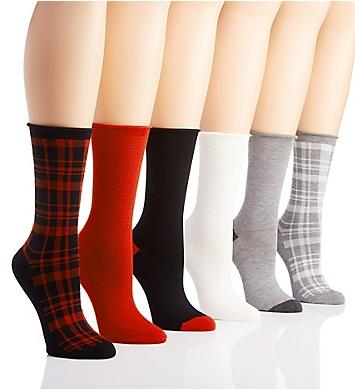Ralph Lauren Plaid Roll Top Trouser Sock - 6 Pack