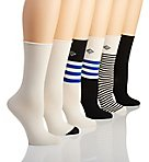 Lauren Stripe Roll Top Trouser Sock - 6 Pack