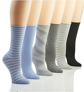 Ralph Lauren Lauren Plaid on Bias Trouser Sock - 6 Pack