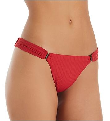 Red Carter Ease Of Eden Gigi Ruched Brief Swim Bottom