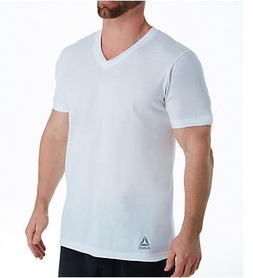 Reebok Sport Cotton Jersey V-Neck T-Shirts - 3 Pack