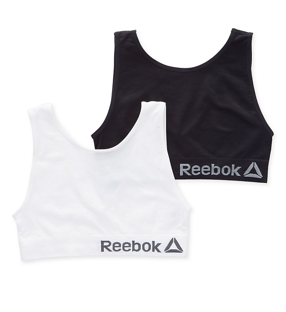 Reebok - Reebok 183TB07 Seamless Ribbed Bralette - 2 Pack (Black/White M)