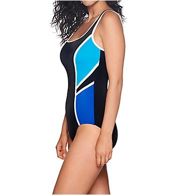 1e3830123a Reebok Colorblock Scoop Neck One Piece Swimsuit 781542 - Reebok Swimwear