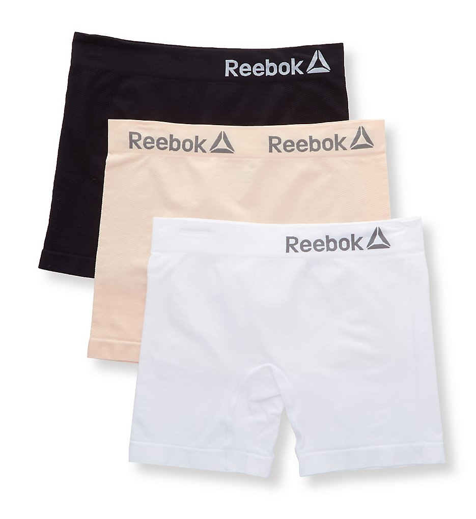 Reebok - Reebok UH72 Seamless Slipshort - 3 Pack (Lotus/White/Black S)