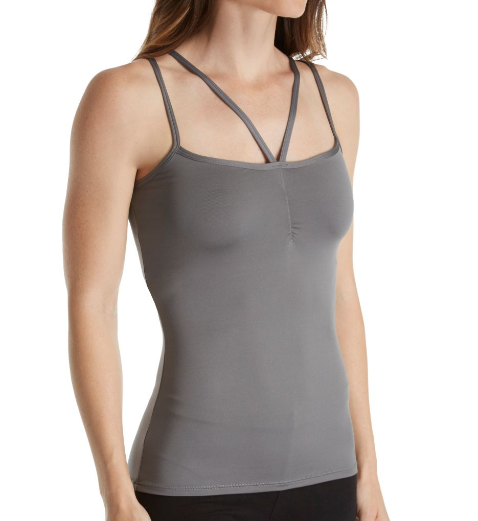 Rhonda Shear Strappy Cami with Shelf Bra