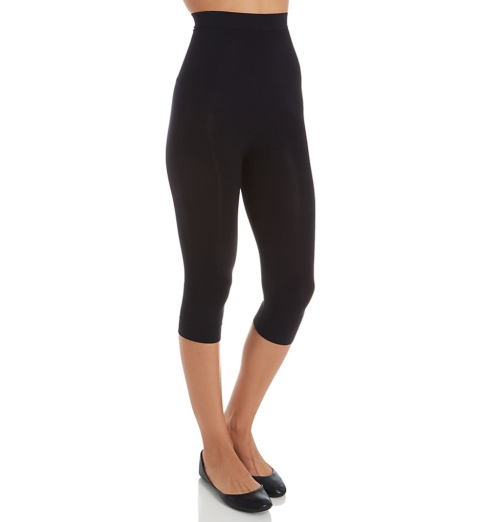 Rhonda Shear - Rhonda Shear 1388 Seamless Shaping Capri Legging (Black S)