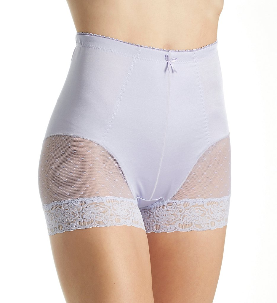 Rhonda Shear - Rhonda Shear 3868 Retro Pin-Up Smoothing Panty (Light Purple M)