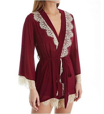 Rhonda Shear Up All Night Lace Trim Robe