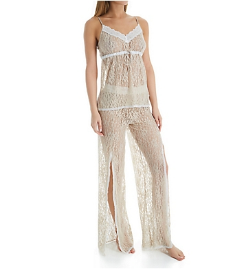 Rhonda Shear Up All Night Stretch Lace Cami and Pant Set