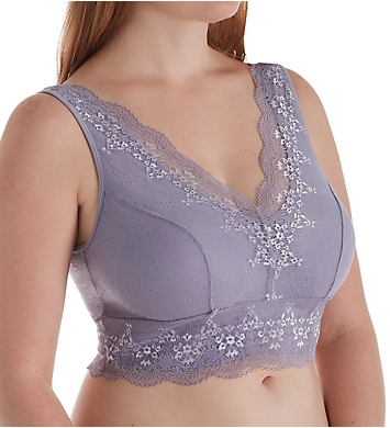 Rhonda Shear Seamless Bra with Lace Overlay