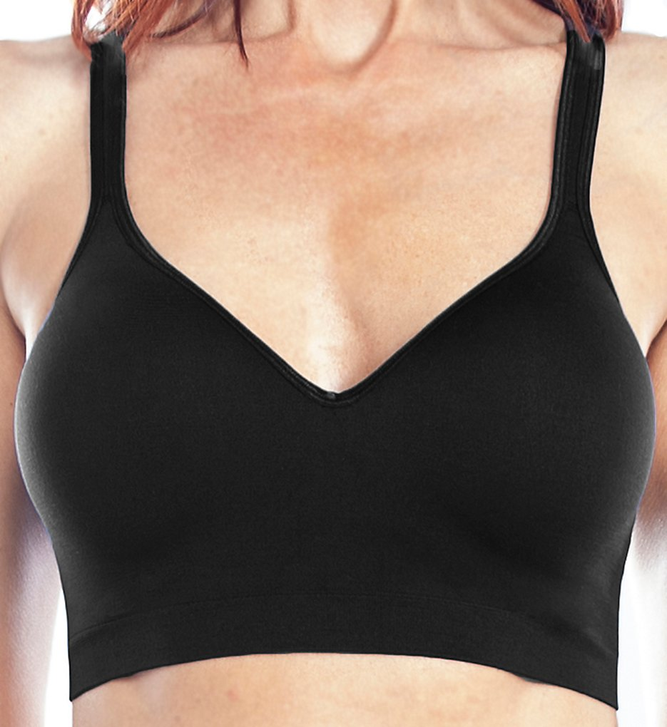 Rhonda Shear - Rhonda Shear 9402 Back Closure Leisure Bra (Black 1X)