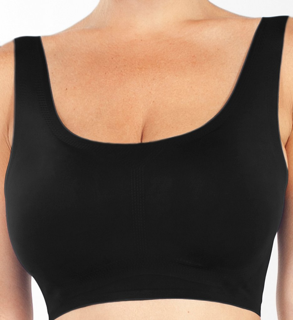 Rhonda Shear - Rhonda Shear 9594 Invisible Body Leisure Bra (Black 1X)