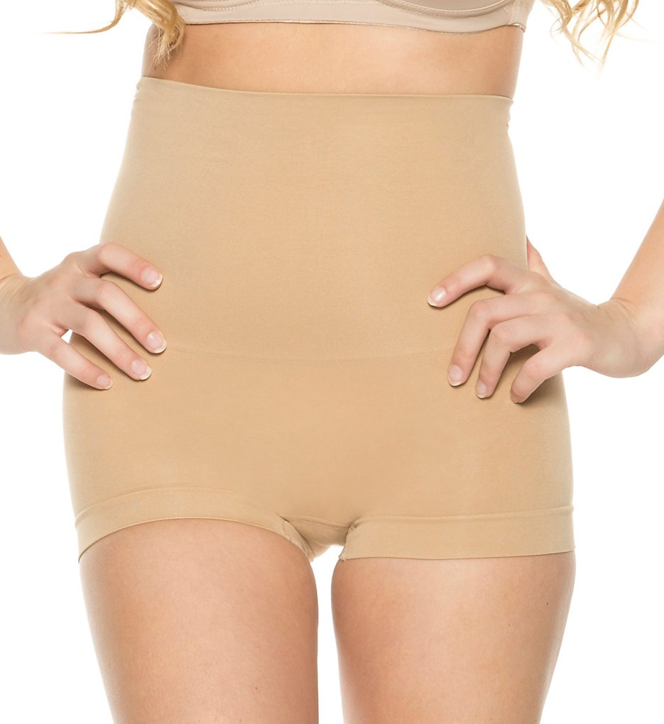 Rhonda Shear - Rhonda Shear 9805 High Waist Shaping Boyshort (Nude L)