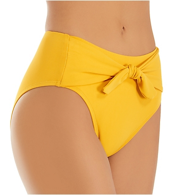 Robin Piccone Ava Front Tie High Waist Brief Swim Bottom