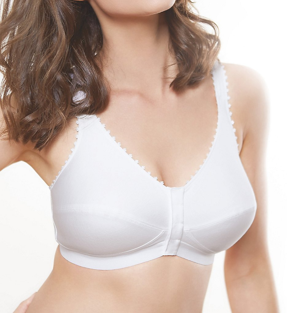 Royce - Royce 1010 Comfi Wireless Front Closure Bra (White 34 B/C)