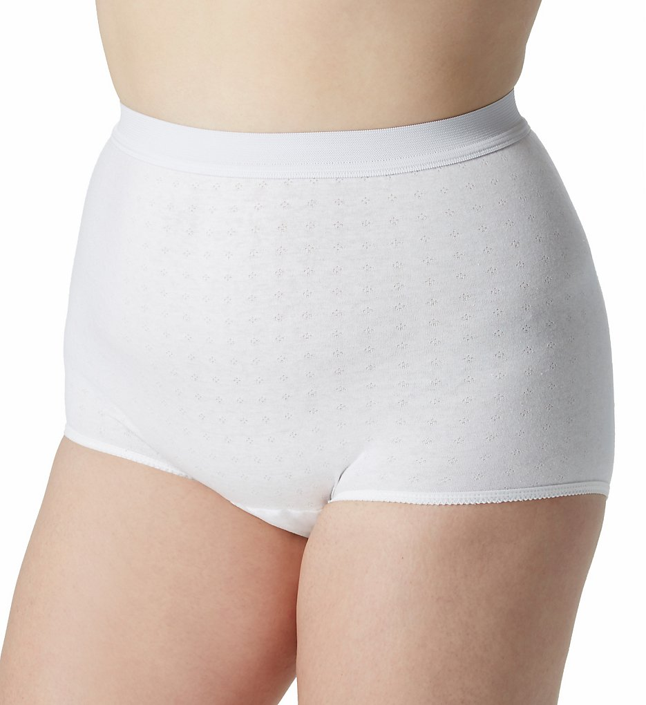 Salk - Salk 67900 Light & Dry Cotton Incontinence Panty (White M)