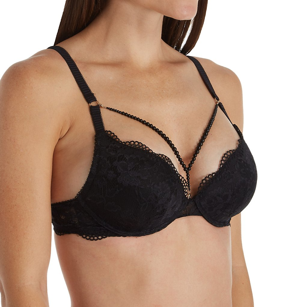 Sapph 6040120 Thalia Lace Push Up Underwire Bra (Black)