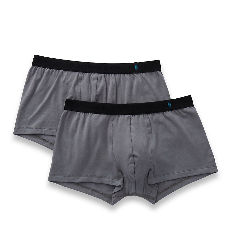 7e514915ac Schiesser 155587 95 5 Rio Trunks - 2 Pack (Grey)