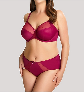 Panache Sculptresse  Candi Full Cup Bra Deep Red 9375 in Deep Red//Navy Floral