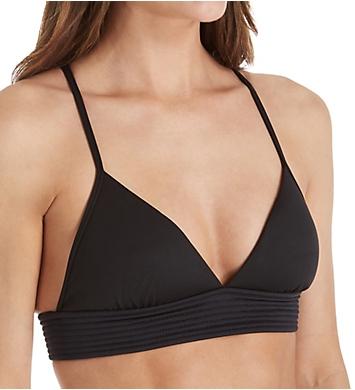 Seafolly Basic Quilted Fixed Tri Bikini Swim Top