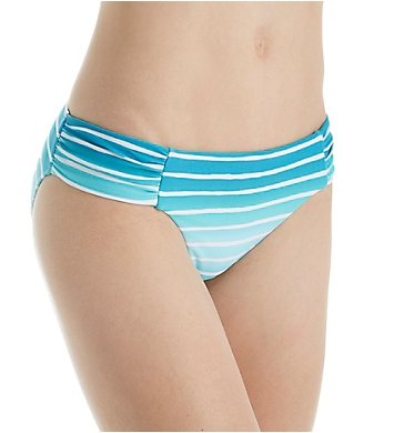 Seafolly Miami Stripe Side Ruched Retro Swim Bottom